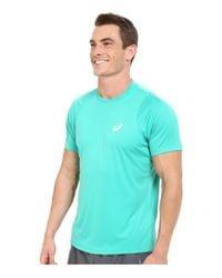 Asics - Green Club Short Sleeve Top for Men - Lyst