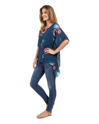 Miraclebody - Blue Sadie Tie Top W/ Body-shaping Inner Shell - Lyst