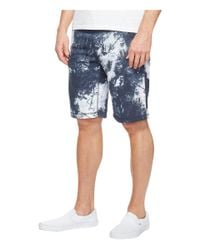 Calvin Klein Jeans - Blue Palm Print Shorts for Men - Lyst