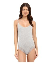 Only Hearts - Gray So Fine With Lace Low Back Bodysuit - Lyst