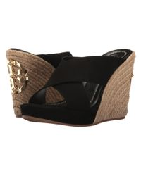 Tory Burch - Black Bailey 110mm Wedge Mule - Lyst