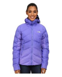 The North Face - Purple Fuseform™ Dot Matrix Hooded Down Jacket - Lyst