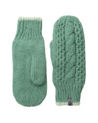 The North Face - Green Cable Knit Mitt - Lyst