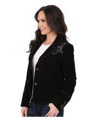 Scully - Black Kaida Boot Stitch Studded Jacket - Lyst