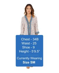 Roxy - Blue Woodstock Cover-up - Lyst