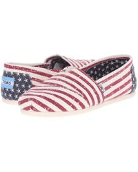 TOMS - Multicolor Classic Floral Embroidery Striped Shoes - Lyst