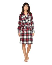 Lauren by Ralph Lauren - Red Folded So Soft Terry Short Robe - Lyst