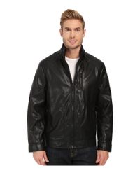Calvin Klein - Black Smooth Faux Leather Jacket for Men - Lyst