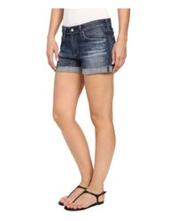 AG Jeans - Blue Hailey Ex-boyfriend Roll-up In 10 Years Day Off - Lyst