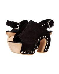 Alexander McQueen. Women's Black Sandal Pelle S.gomma