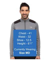 The North Face - Gray Kilowatt 1/4 Zip for Men - Lyst