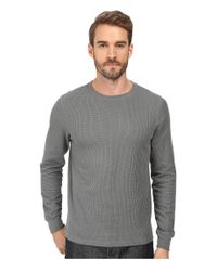 Threads For Thought | Gray Rocco Crew Double Face Thermal for Men | Lyst