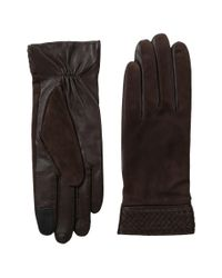 Cole Haan - Brown Braided Cuff Suede Gloves With Tech for Men - Lyst