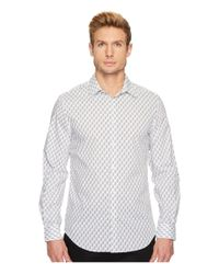 Perry Ellis - White Regular Fit Bouquet Print Stretch Shirt for Men - Lyst