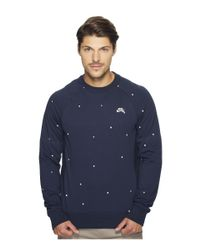 Nike | Blue Sb Everett Geo Crew Top for Men | Lyst