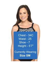 Miraclesuit - Black New Directions Color Block High Neck Tankini Top - Lyst