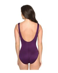 Miraclesuit - Purple Must Haves Escape One-piece - Lyst