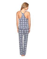 Lucky Brand - Blue Crochet Inserts Cami Pajama Set - Lyst