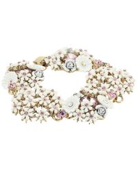 Betsey Johnson - Multicolor Flower Cluster Bracelet - Lyst