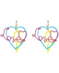 Betsey Johnson | Multicolor Love Drop Earrings | Lyst