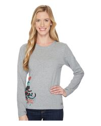 Life Is Good. - Gray Party Time Cat Long Sleeve Crusher Tee - Lyst
