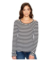 LNA - Black Stripe Bolero Long Sleeve - Lyst