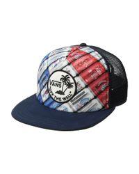 Vans - Blue Surf Patch Trucker Hat for Men - Lyst