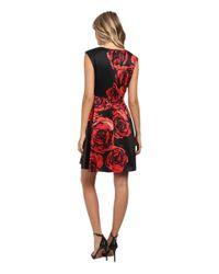 Donna Morgan - Red Dupioni Fit & Flare Dress - Lyst