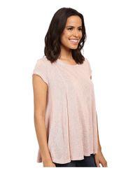 B Collection By Bobeau - Pink Posy Swing Knit T-shirt - Lyst