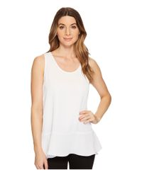 NIC+ZOE - White Moroccan Tank Top - Lyst