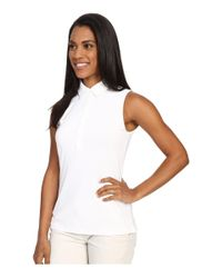 Under Armour - White Zinger Sleeveless Polo - Lyst