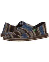 Sanuk - Blue Yew-knit for Men - Lyst