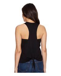 Lanston - Black Tie Back Muscle Tank Top - Lyst