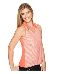 Adidas Originals - Pink Climachill Fashion Sleeveless Polo - Lyst