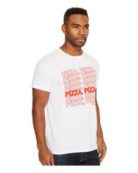 The Original Retro Brand - White Pizza Pizza Vintage Cotton Short Sleeve Tee for Men - Lyst