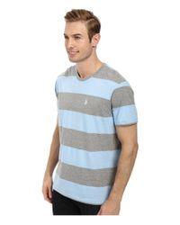 U.S. POLO ASSN. - Blue Wide Stripe T-shirt for Men - Lyst