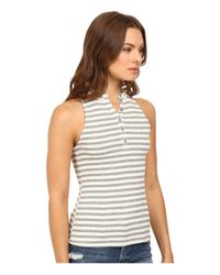 Project Social T - White Striped Polo Tank Top - Lyst