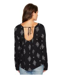Roxy - Black A Sky Full Of Stars Long Sleeve Top - Lyst