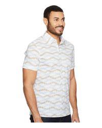 Perry Ellis - White Horizontal Wave Shirt for Men - Lyst