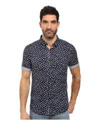 7 Diamonds - Blue Light Years Short Sleeve Shirt for Men - Lyst