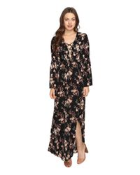 Brigitte Bailey - Black Hedda Bell Sleeve Floral Maxi Dress - Lyst