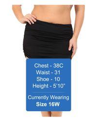 Lauren by Ralph Lauren - Black Plus Size Beach Club Solids Ultra High Waist Skirted Hipster Bottoms - Lyst