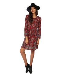 Lucky Brand - Red Vintage Floral Dress - Lyst