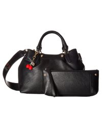 Betsey Johnson | Black Sweet As Pie Satchel | Lyst