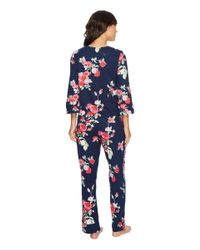 Carole Hochman - Blue Plus Size Soft Jersey Floral Pajama - Lyst