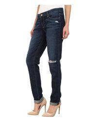 PAIGE - Blue Jimmy Jimmy Skinny Jeans In Elia Destructed - Lyst
