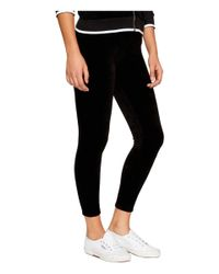 Juicy Couture - Black Stretch Velour Rodeo Drive Leggings - Lyst