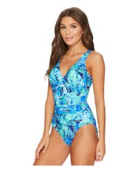 Lauren by Ralph Lauren - Blue Exotic Paisley Twist Underwire One-piece - Lyst