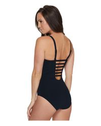 Seafolly | Black Indian Summer Dd Cup Maillot | Lyst