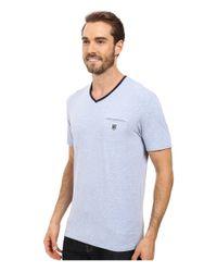 7 Diamonds - Blue Kolby Short Sleeve Shirt for Men - Lyst
